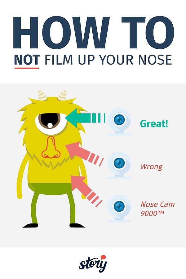 A printable infographic of how not to film up your nose